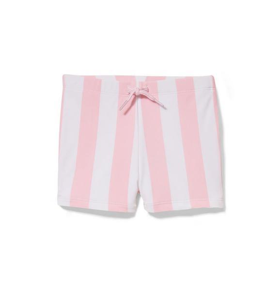 Pink Striped Swim Short