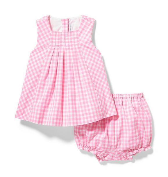 Pink Gingham Matching Set