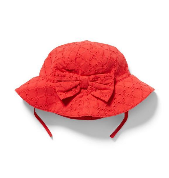 Eyelet Bow Bucket Hat
