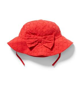 Eyelet Bow Bucket Hat