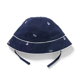 Baby Sailboat & Whale Sun Hat