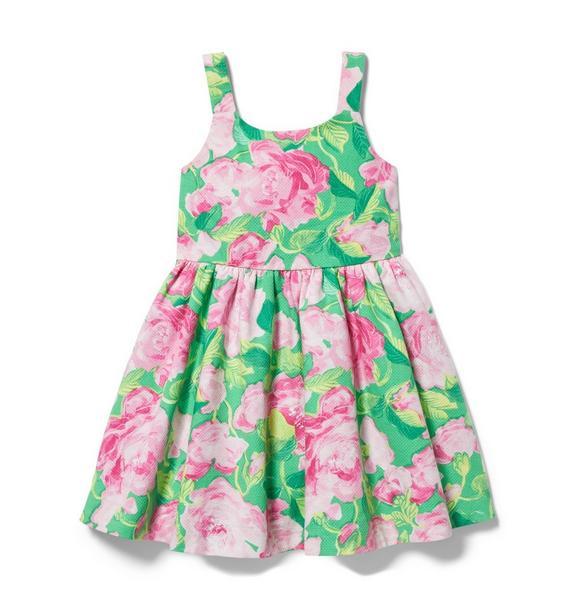 Rose Pleated Dress