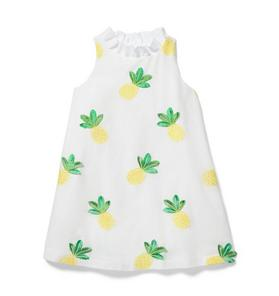Embroidered Pineapple Dress