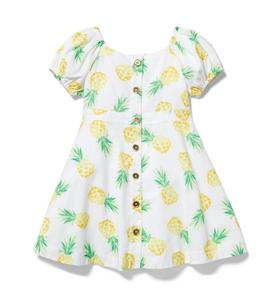 Pineapple Puff Sleeve Dress
