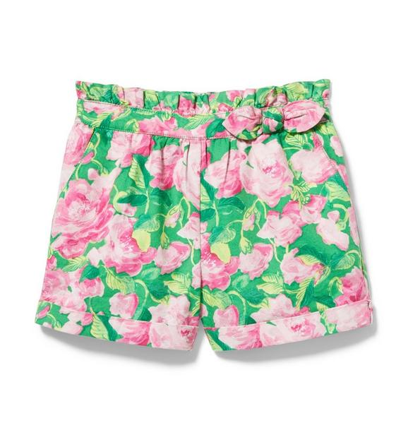 Rose Paperbag Waist Short