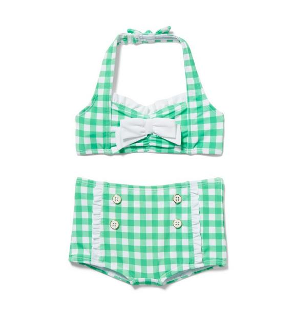 Gingham 2-Piece Swimsuit