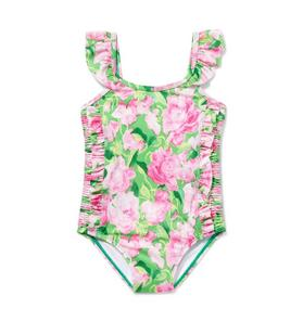 Rose Ruched Swimsuit
