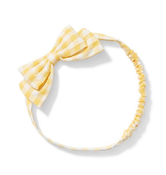 Baby Gingham Bow Headband