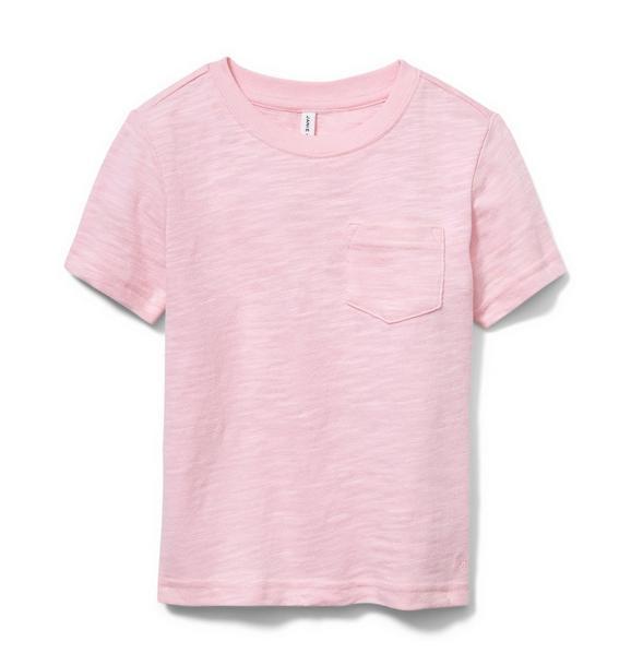 Pink Slub Pocket Tee