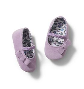 Baby Suede Bow Shoe