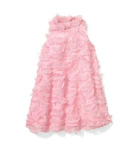 Pink Feather Fringe Dress