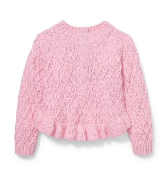 Pink Peplum Sweater