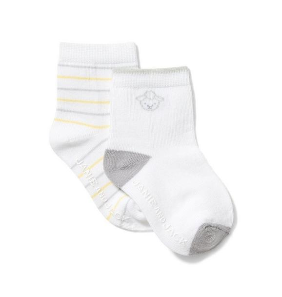 Baby Striped And Sheep Sock 2-Pack