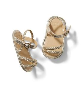 Baby Metallic Braided Sandal