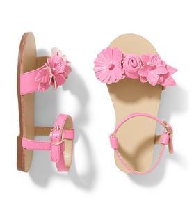 Pink Flower Sandal