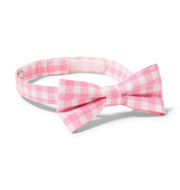 Pink Gingham Bowtie