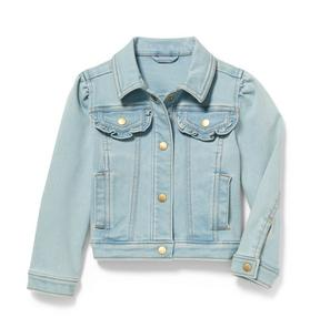 Denim Jacket in Glacier Blue Wash