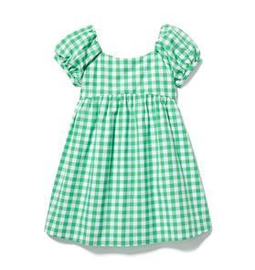Gingham Puff Sleeve Dress