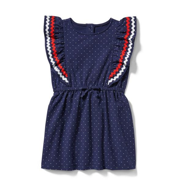 Ric Rac Ruffle Dot Dress