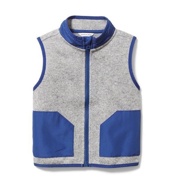 Colorblocked Fleece Vest