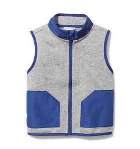 Colorblocked Fleece Vest