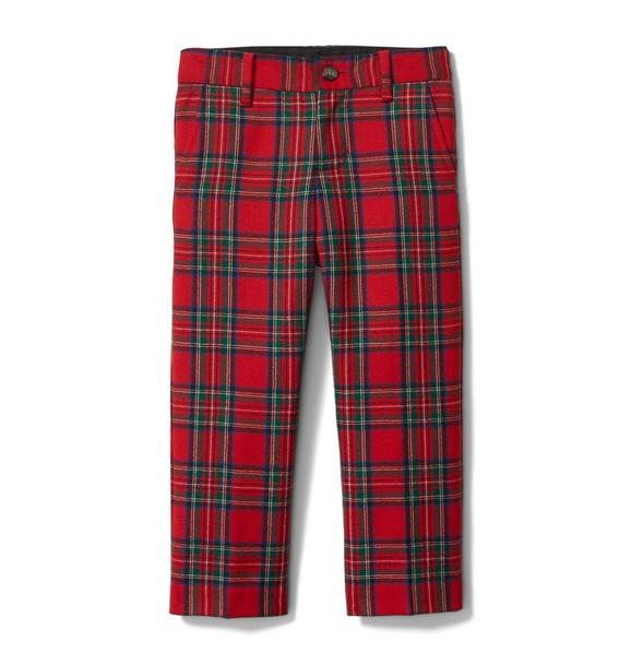 Plaid Wool Pant