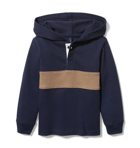 Hooded Stripe Pullover