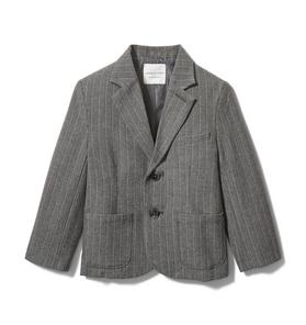 Wool Pinstripe Blazer