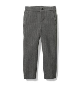 Wool Pinstripe Jogger