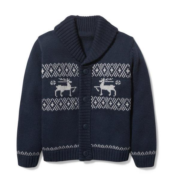 Reindeer Shawl Cardigan