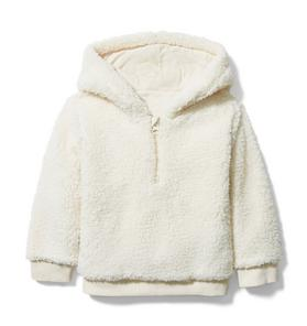 Hooded Sherpa Sweatshirt