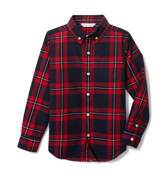 Brushed Twill Plaid Shirt