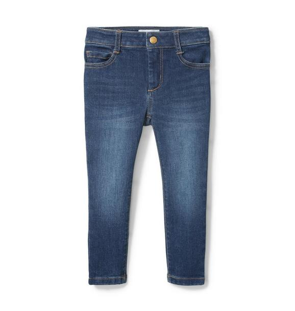 Skinny Jean In Ocean Faded Wash