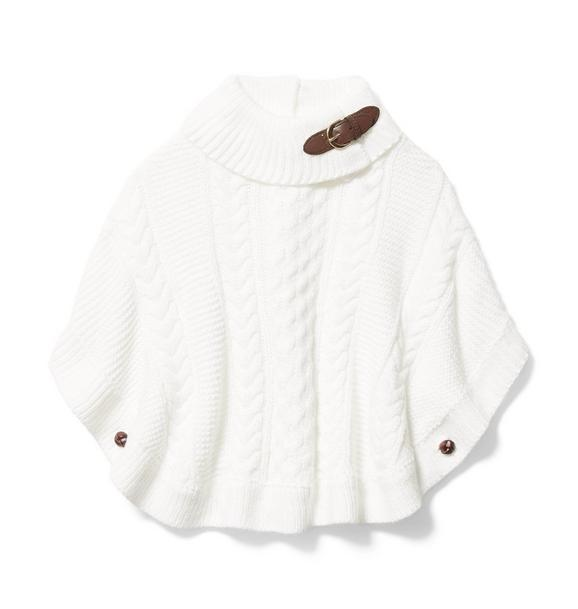 Cable Knit Sweater Cape