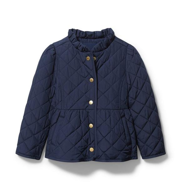 Quilted Peplum Barn Jacket