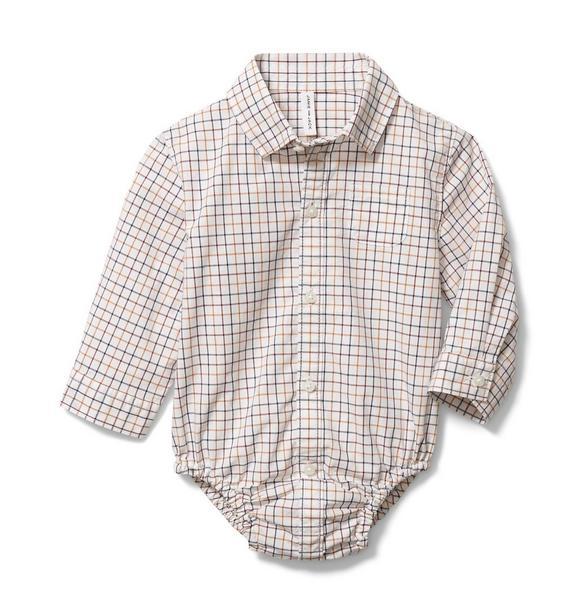 Baby Plaid Poplin Bodysuit