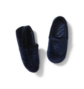 Velvet Logo Slipper