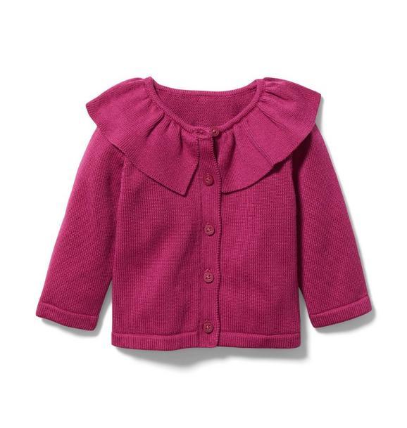 Baby Ruffle Collar Cardigan