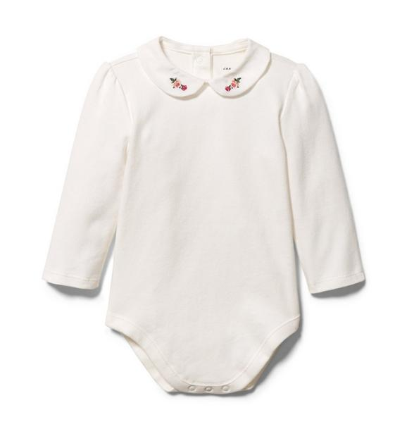 Baby Embroidered Collar Bodysuit