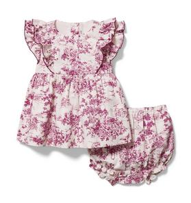 Baby Toile Matching Set