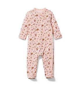 Baby Horse Print Footed 1-Piece
