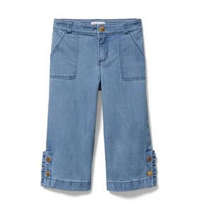 Ruffle Wide Leg Jean