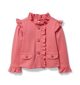 Ruffle Ponte Jacket