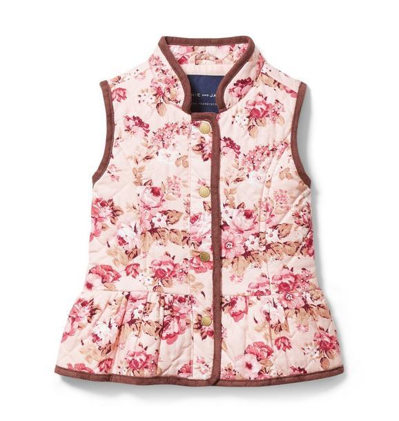 Quilted Floral Vest