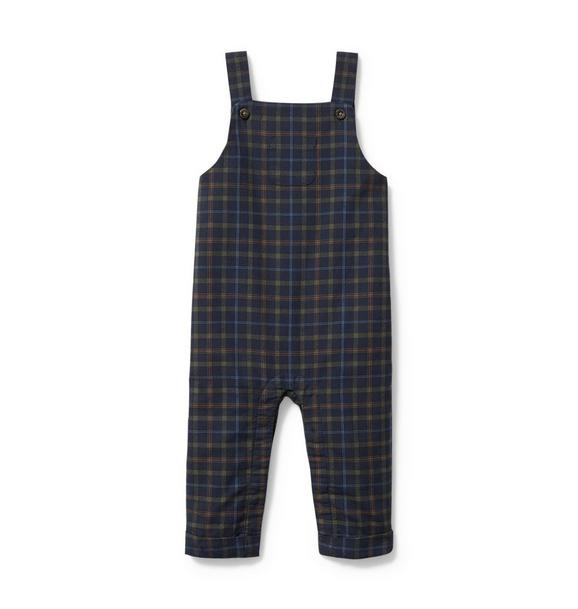 Baby Plaid Twill Overall