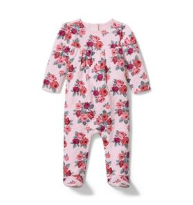 Baby Floral Footed 1-Piece
