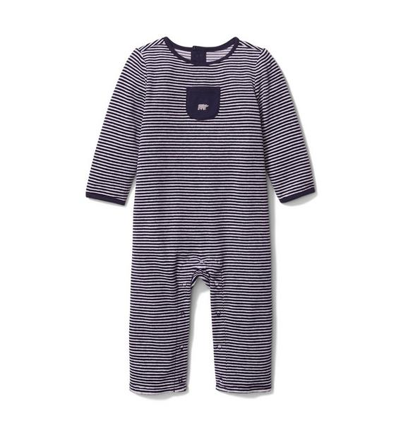 Baby Striped Velour 1-Piece