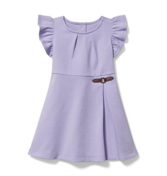 Ruffle Sleeve Ponte Dress
