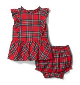 Baby Plaid Matching Set