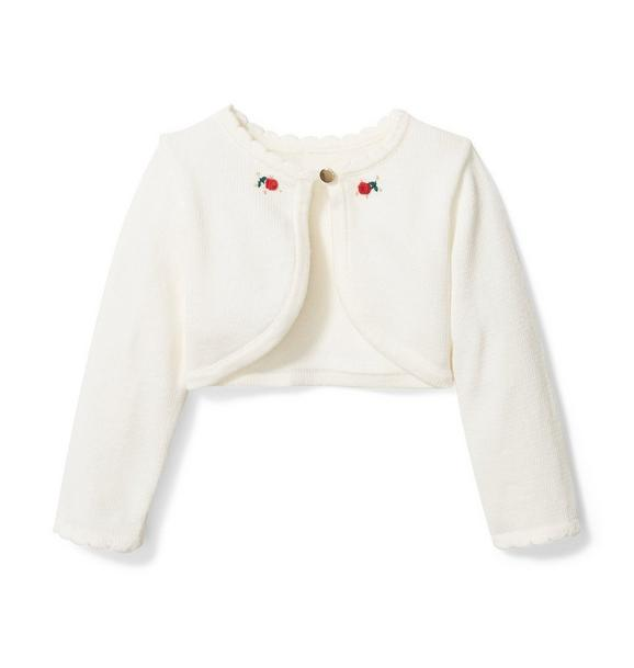 Janie and Jack Baby Rose Cardigan